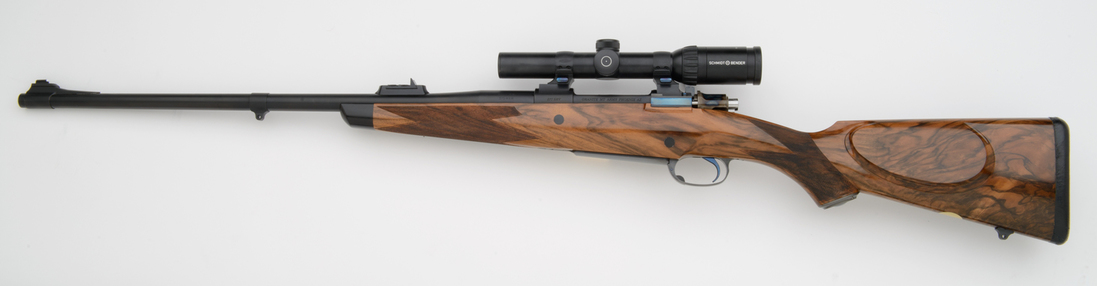 375 right handed custom rifle with turkish walnut stock