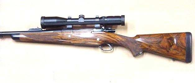 378 Custom Rifle with leather wrapped pad