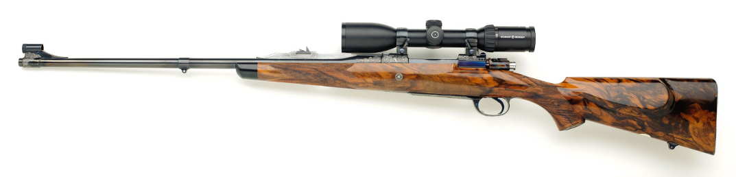 30.06 right handed custom rifle with exhibition turkish walnut stock