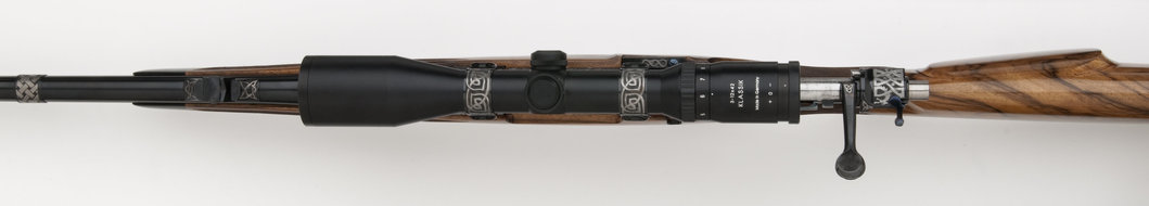7mm stw Celtic engraved rifle