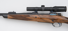 custom 375 rifle with point pattern checkering