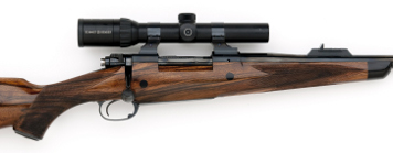 375 custom rifle with ebony crossbolts