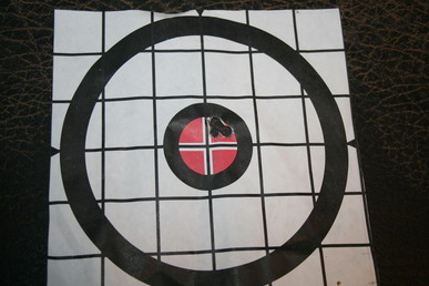 7mm Weatherby custom rifle target