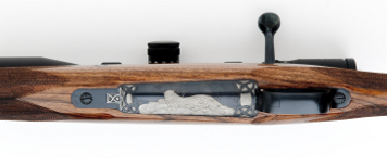 7mm stw custom rifle with floor plate engraving
