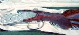 Beretta shotgun with prince of wales grip