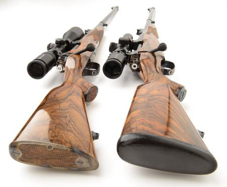 cutom built rifle pair in 375 and 300 win mag