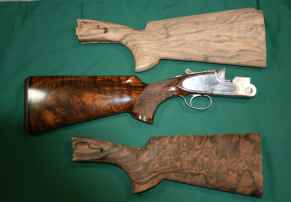 Beretta S05 Finished Shotgun buttstock with wood blanks