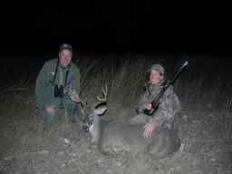 """Donna Grey used the Ramirez 7 x 57 to take her first whitetail, on Jack Field' s ranch in South Texas."""